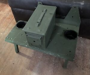 Details about HMMWV HUMVEE RADIO TRAY CUP HOLDER AND STORAGE CENTER CONSOLE  WITH FEET