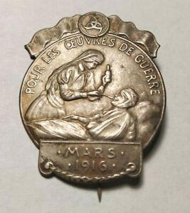 broche pour les œuvres de guerre mars 1916