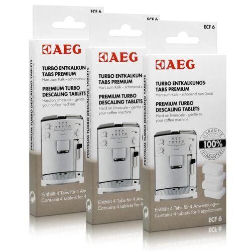 Sparfuchs Set = 3 Pakete je 4 Tabs AEG ECF 6 Turbo Entkalkungs Tabs 900167297