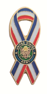 United States US Army Support Ribbon Pin Badge LAST FEW