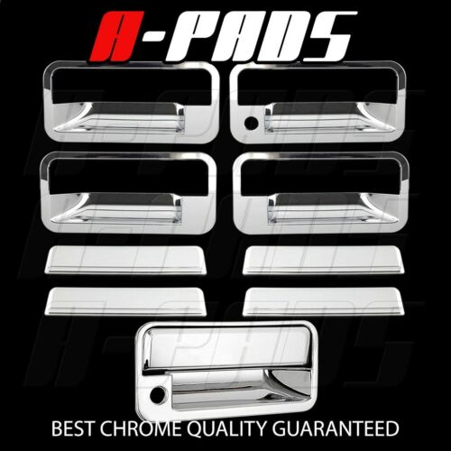 FOR CHEVY SUBURBAN 92-99 CHROME COVERS 4 DOORS HANDLES+TAILGATE KH