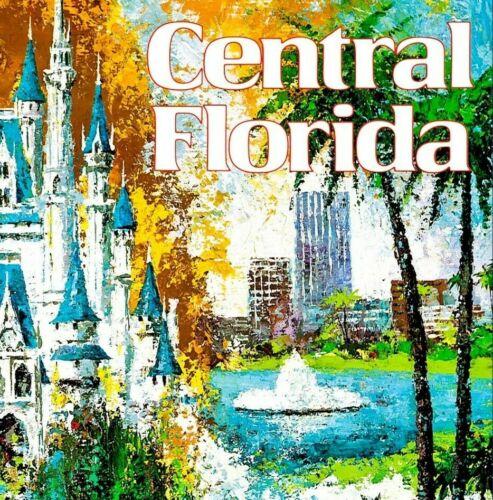 Central Florida 1970 Vintage Poster Print Retro Style Airline Travel Art
