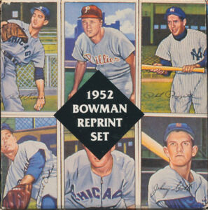 REPRINT-MINT1952-SET-Bowman1949-BOWMAN-SERIES-4-amp-2-Mickey-Mantle-ROOKIE-Cards