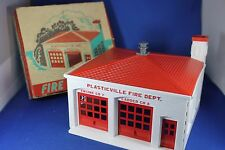 Plasticville - #FH-4 Fire House - GRAY SIREN - Very Rare Outstanding Boxed Piece