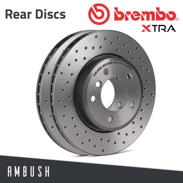 Set of 4 Brembo P85100 Rear Disc Brake Pad