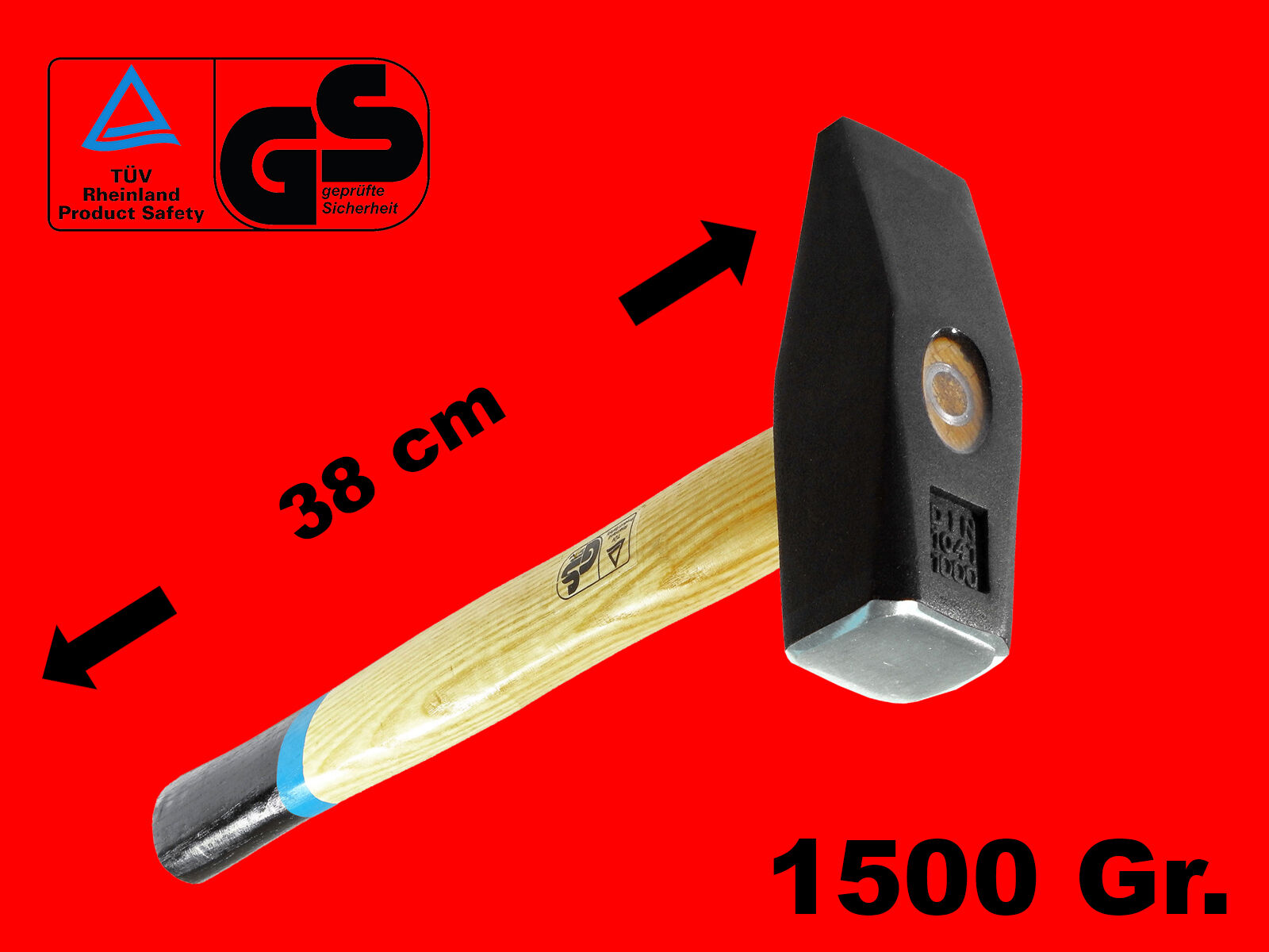 7-tlg Schlosserhammer Set 100 Gr 2000 Gr Werkstatt Hammer Esche Holzstiel XT