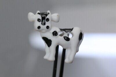 Sehr hübsches Kinderknopf-Trio wohl ab 2010 weiße Kuh mit Flecken