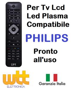 Telecomando universale compatibile per TV PHILIPS Lcd Led Smart TV tipo Original