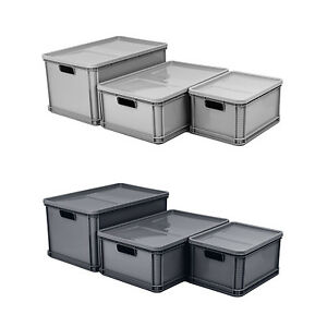 lagerkiste euro box stapelbox transportbox mit deckel. Black Bedroom Furniture Sets. Home Design Ideas