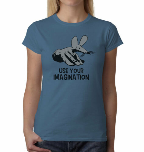 FingerMouse Use Your Imagination Ladies t-shirt FINGERBOBS 70/'s 80/'s KIDS TV
