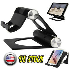 Portable Desk Stand Holder for iPhone/iPad Folding Pivot Cradle for Tablet Phone