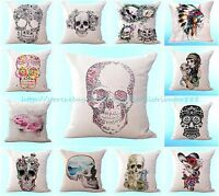 Wholesale 10pcs Sugar Skull Cushion Cover Home Decoration Throw Pillow Cover