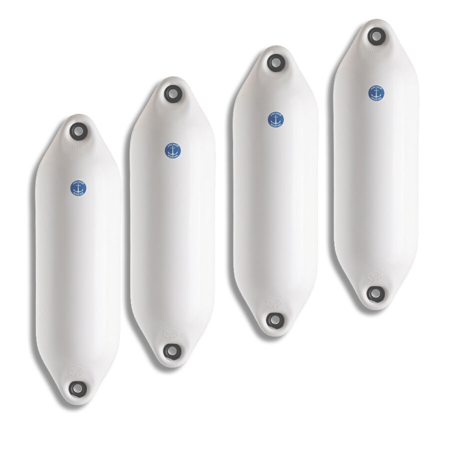 Pk OF 4  NEW ANCHOR MARINE BOAT FENDERS SIZE 3   45x 3cm WHITE 4-6metre Bts