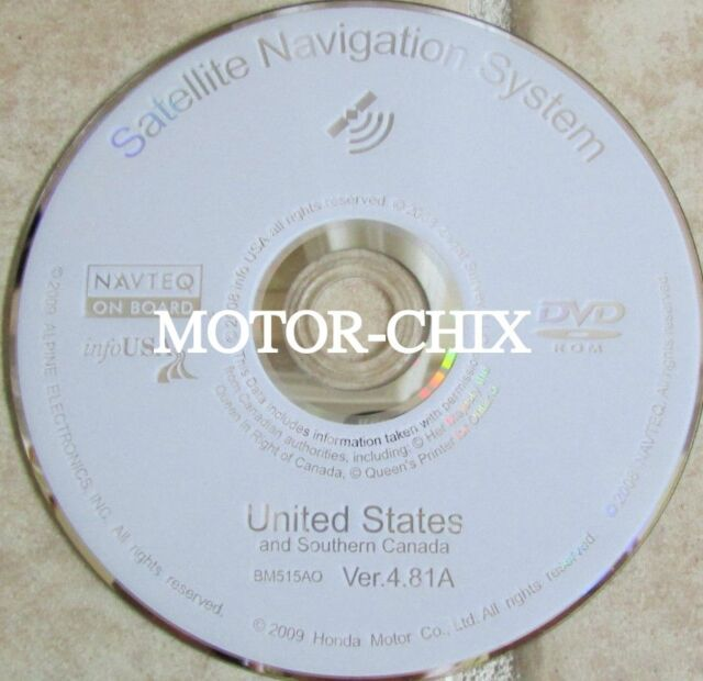 Honda Acura Navigation Disc Bm515ao Ver 4.81a USA For Sale