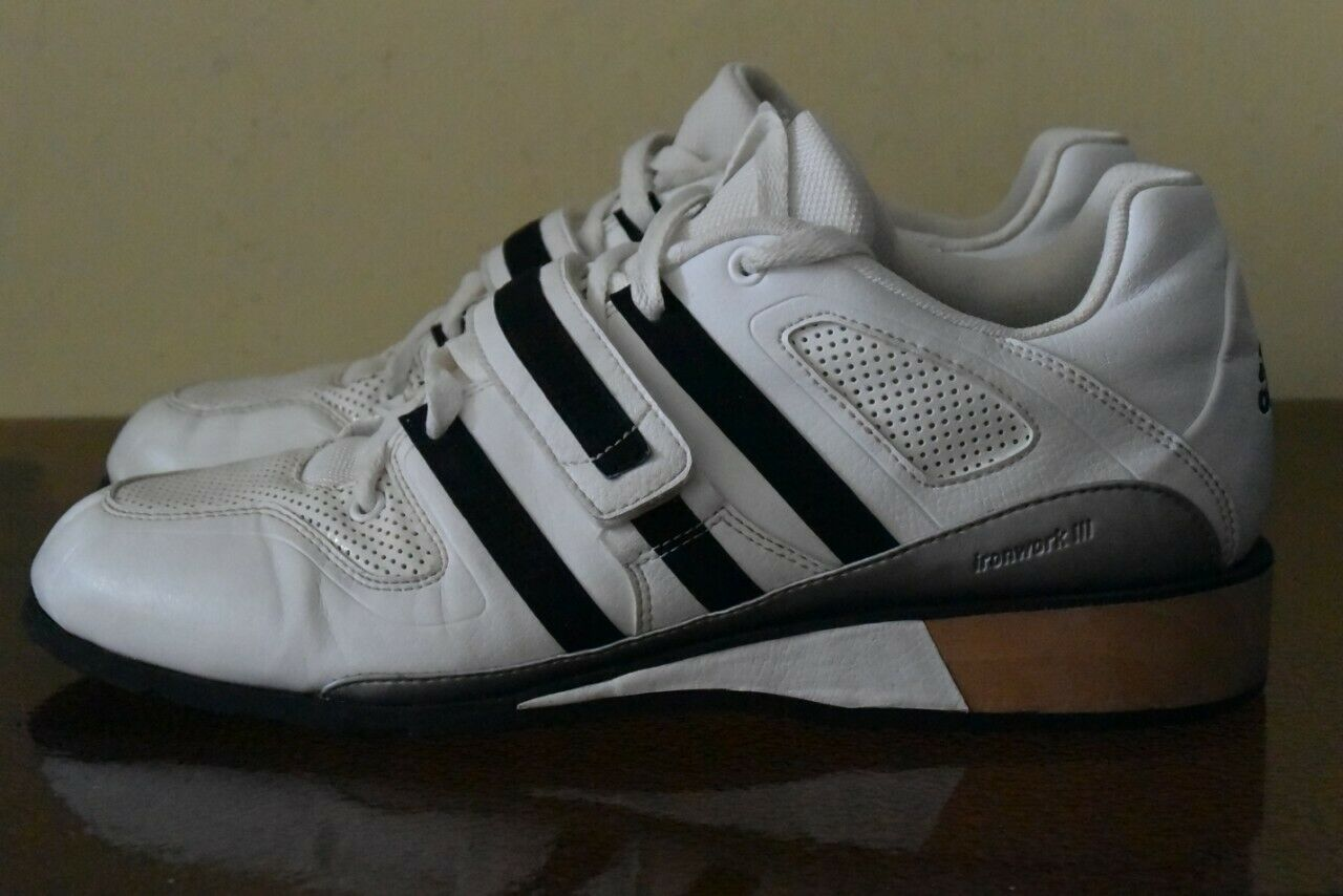 Adidas Ironwork 3 Weiß Weight Lifting Größe 44 2 3