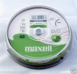 20-DVD-R-DUAL-LAYER-MAXELL-print-XBOX-DOUBLE-DL-1cd-VERBATIM-275744