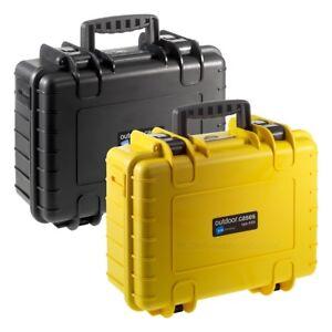 B&W Outdoor Case Typ 4000 - mit SI, RPD oder leer - schwarz, gelb - Schutzkoffer