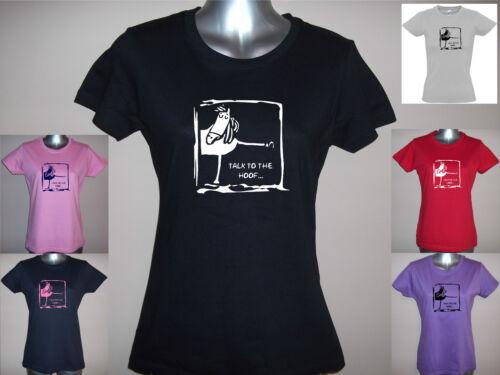 paillettes S M L XL XXL plain Nouveau parler le sabot chers funny cheval T-shirt