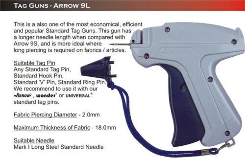 2000 Barbs 10636 Tagging Attacher Arrow 9L Long Needle Price Tag Gun 1 Needle