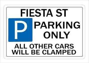 FIESTA ST Parking Sign Wall Plaque Make Ideal Gift