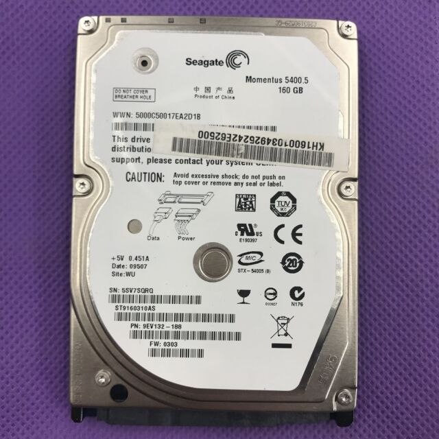 "Seagate 5400.5 160GB 5400RPM 2.5"" ST9160310AS HDD For Laptop Hard Drive"