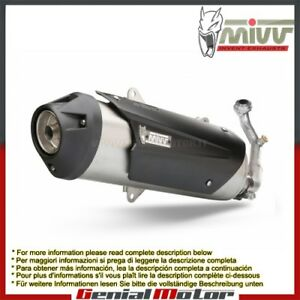 MIVV Complete Exhaust Urban Steel Yamaha Majesty 400 2005 05