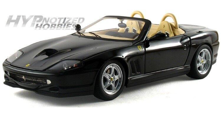Hot Wheels 1 18 Elite Ferrari 550 Barchetta de Metal black N2055