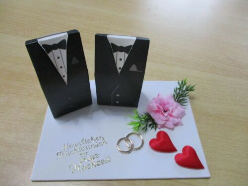 schwules Paar 18 x13 cm  Super Geschenkidee Geldgeschenk  Hochzeit,Männer Neu