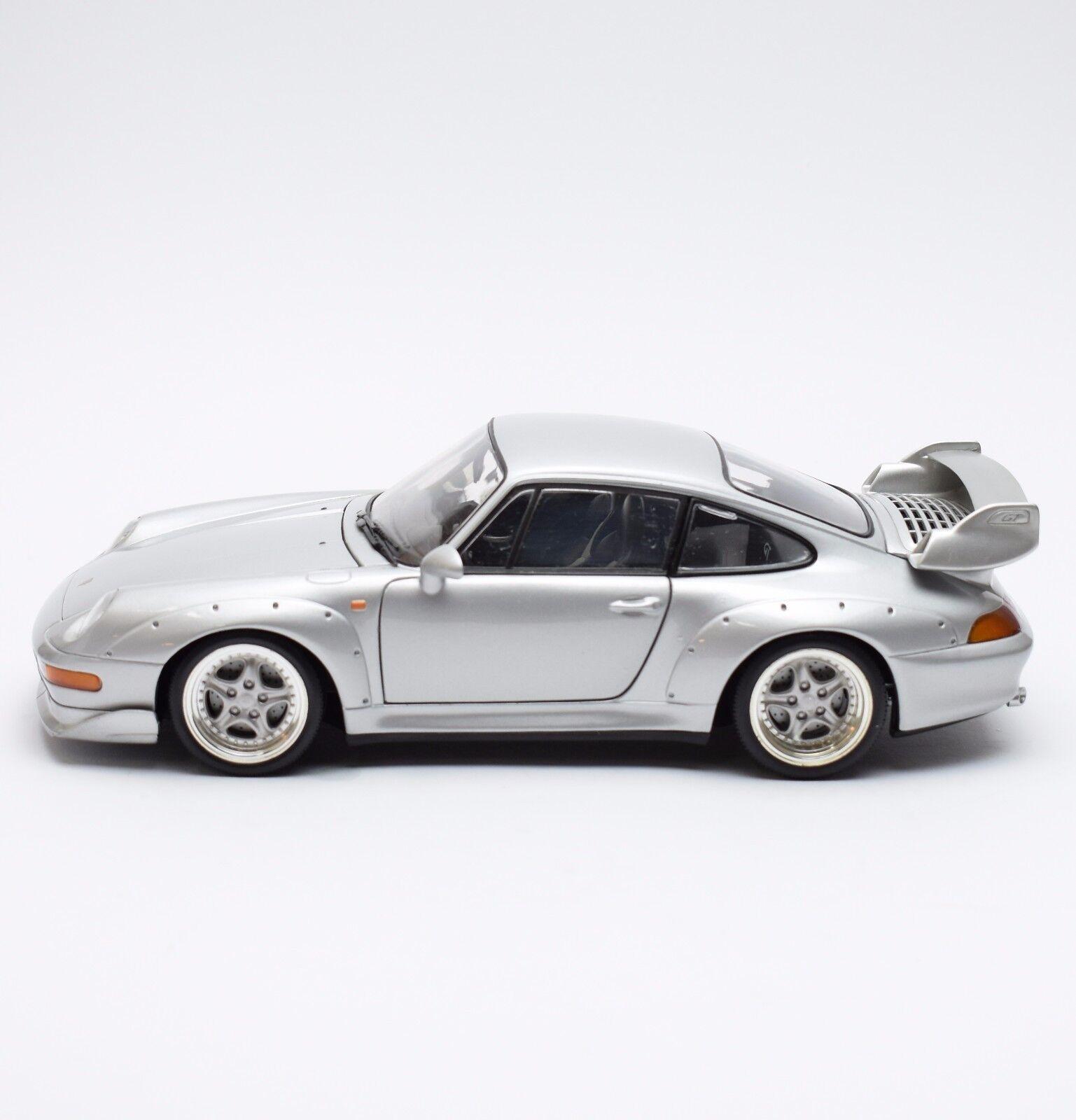 Ut rarità PORSCHE 911 GT auto sportive in argentoo laccato, 1 18, x702