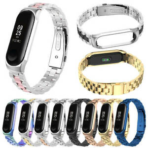 For-Xiaomi-Mi-Band-4-3-Metal-Wrist-Bracelet-Stainless-Steel-Replacement-Strap