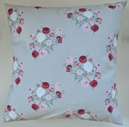 """Cushion Cover in Sophie Allport Grey Pink Peony Floral 14/"""" 16/"""" 18/"""" 20/"""" 22/"""" 24/"""""""
