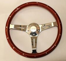 "1964-66 Chevy II 2 Nova Impala Wood Steering Wheel 14"" Classic SS Center Cap"