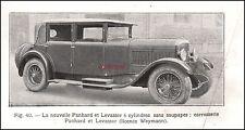 Publicité Automobile Panhard Levassor car vintage ad  1927 -10I