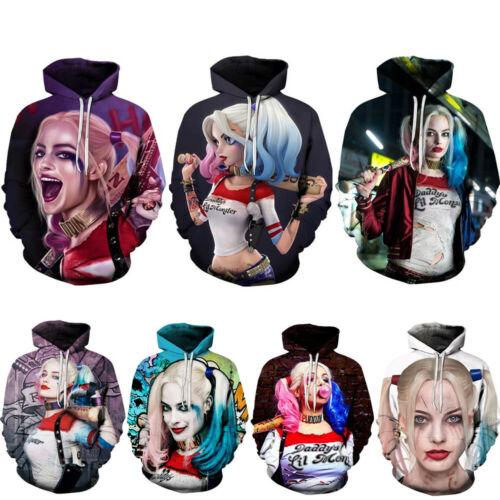 New Fashion Suicide Squad Joker 3D Print Men//Women/'s hoodies Sweater Sweatshirt