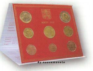 VATICANO VATICAN DIVISIONALE ufficiale 2015 8 monete Fdc