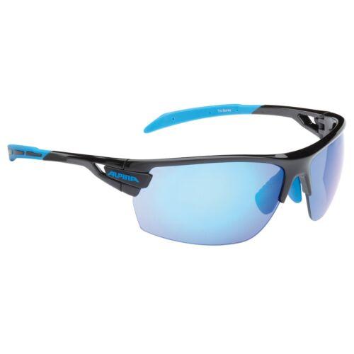 Alpina Fahrradbrille Sportbrille Sonnenbrille Brille TRI-SCRAY black-cyan