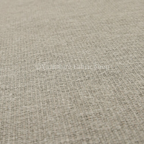 10 Metres Of Quality Textured Basket Weave Furnishing Silver Upholstery Fabric