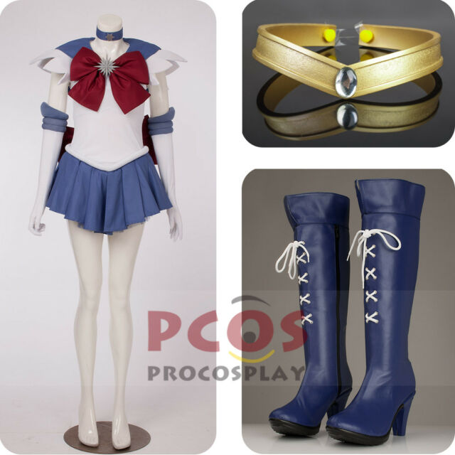 Best Set~Sailor Moon Sailor Saturn Tomoe Hotaru Cosplay Costume & Shoes mp000307