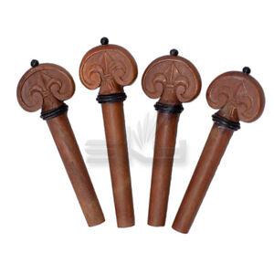 Jujubewood Violon Tuning Pegs 4/4 Taille Fiddle Violon Parts New De Haute Qualité (#9)-afficher Le Titre D'origine Les Clients D'Abord