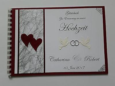 Angemessen Gästebuch/fotoalbum, Hochzeit, Hochzeitsbuch,spiralbindung, Weinrot-weiß, Silber
