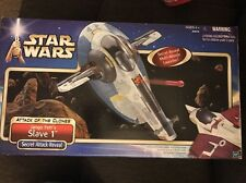 2001 Star Wars Attack of the Clones Jango Fett Slave 1 star ship Hasbro MIB new