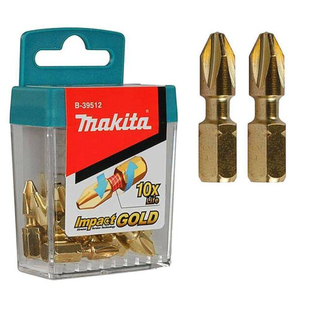 Makita B-39182 Impact Gold Xtreme Torsion Bits PZ2 pour Bosch Dewalt Milwaukee **