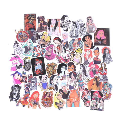 50XSexy Beauty Tatoo Girls Graffiti Sticker Luggage Skateboard Laptop StiABO