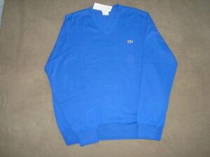 LACOSTE-100-COTTON-ROYAL-BLUE-SWEATER-SIZE-M-5