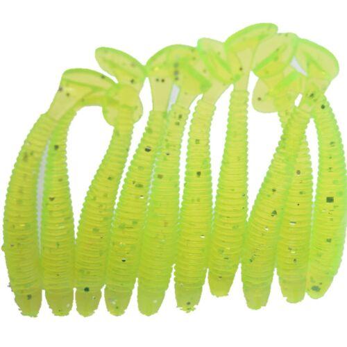 10 stücke Nützlich Angeln Wurm 6g 5 cm köder Jig Weichen  Schwanz Lure Köder
