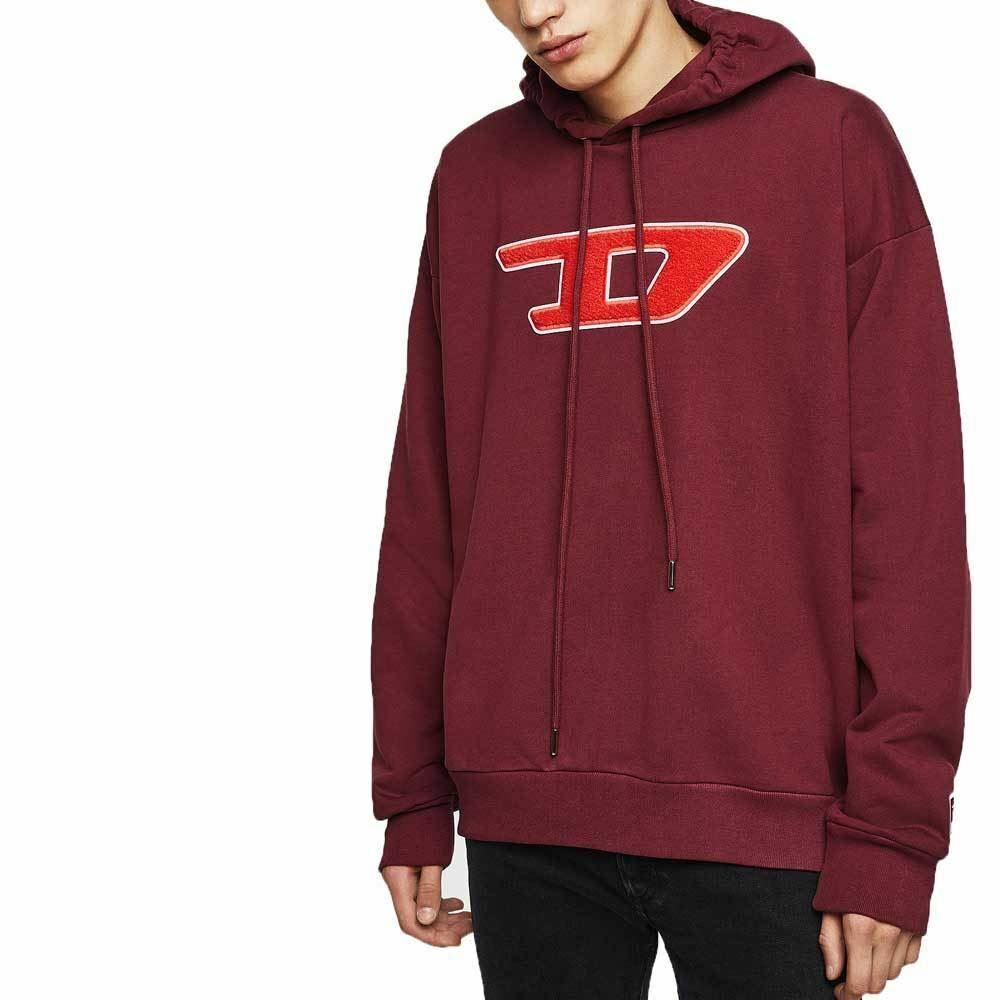 Diesel Jeans Jumper S-DIVISION-D Hoodie - Burgundy