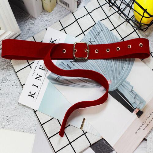 1xFemale Knot Long Velvet Belt Cloth Dress Belts Square Buckle Coat Sweater Belt