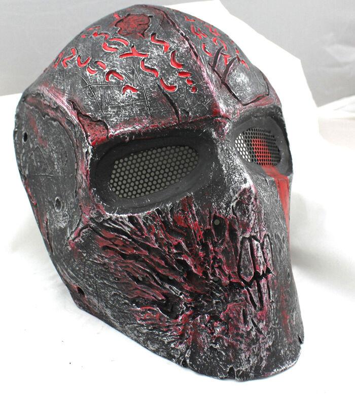 Durable Fiber Resin Mesh Eye Airsoft Paintball Full Face Predection Terror Mask