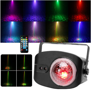 RG Laser Pattern & RGBW LED Magic Ball Stage Light Remote Sound Disco Party Club