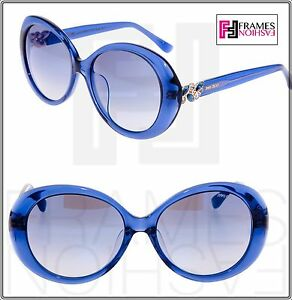 a59842ccd5e Image is loading JIMMY-CHOO-CLEM-Translucent-Blue-Mirrored-Round-Sunglasses-